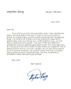 stephen King dear me letter