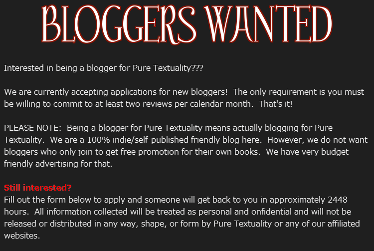 bloggers wanted plaque