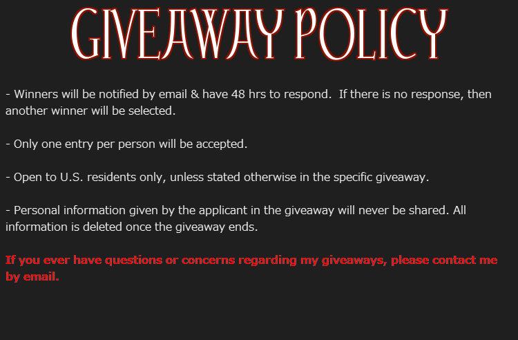 giveaway policy plaque